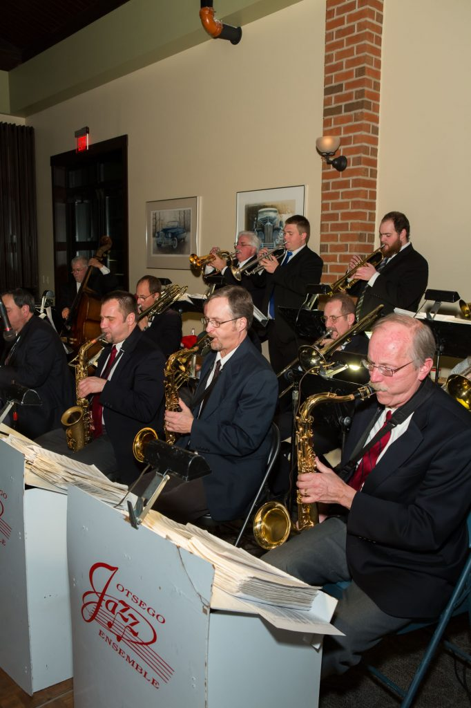 Otsego Jazz Ensemble playing a wedding gig at the Gilmore Car Museum in Hickory Corners, Michigan